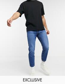 Суженные книзу выбеленные джинсы цвета индиго из экологически чистого материала Inspired the 89'-Голубой Reclaimed Vintage 11200742