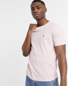 Светло-розовая футболка из ткани «пинпоинт» с вышитым логотипом -Розовый цвет Original Penguin 11530216