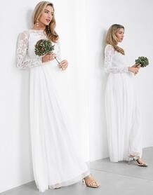 Свадебное платье макси с вышивкой -Белый ASOS Edition 10994170