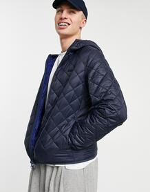 Темно-синяя стеганая куртка с капюшоном Holg-Темно-синий Barbour 11464896