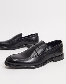 Черные кожаные лоферы -Черный цвет Base London 10180035