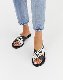 Черные сандалии с перекрестными ремешками Tommy Jeans-Черный Tommy Hilfiger 8931747