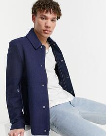 Шерстяной пиджак с узором «в елочку» -Темно-синий Lyle & Scott 11420294