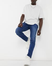 Сине-голубые джинсы узкого кроя Anbass-Голубой Replay 10301402