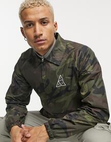 Спортивная куртка с камуфляжным принтом и логотипом Essentials-Зеленый цвет Huf 10446375