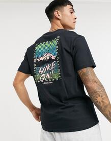 Черная футболка с принтом с надписью «Hike On» Hike On-Черный Columbia 10663269