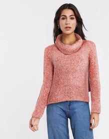Красный джемпер с высоким воротником -Розовый цвет Free People 10010693