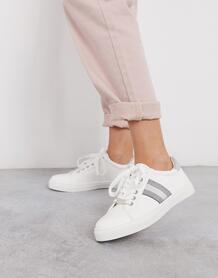 Кроссовки с полосой по бокам -Белый Carvela 9081926