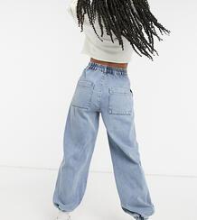 Синие свободные джинсы в винтажном стиле с манжетами и эластичной талией inspired The '81-Синий Reclaimed Vintage 10455575