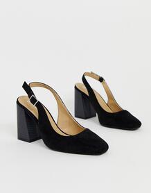 Черные туфли на каблуке с ремешком на пятке Nina-Черный Raid 9110275