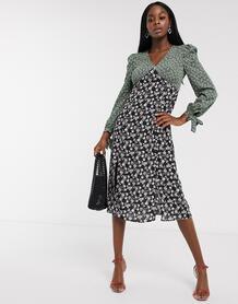 Платье миди с принтом -Мульти Never Fully Dressed 9566138