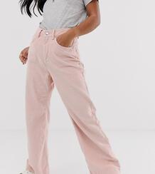 Розовые вельветовые брюки с широкими штанинами -Розовый Vero Moda 8809313