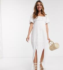 Белое платье макси с квадратным вырезом ASOS DESIGN Maternity-Белый Asos Maternity 9301807