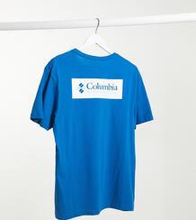 Футболка с принтом на спине эксклюзивно для ASOS-Голубой Columbia 9678591