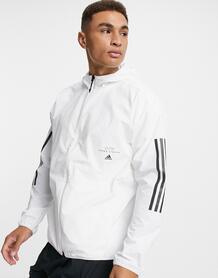 Белая олимпийка с капюшоном-Белый Adidas 10400282