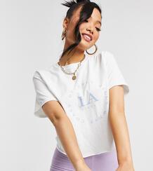 "Белая футболка со слоганом ""LA"" -Белый Miss Selfridge Petite 11887126"