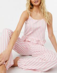 Пижама врозовую полоску -Розовый цвет Miss Selfridge 11888594