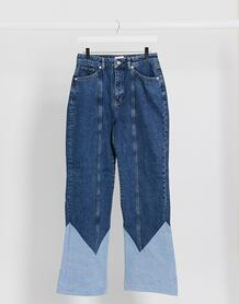 Прямые джинсы со вставками -Голубой NA-KD 10150541