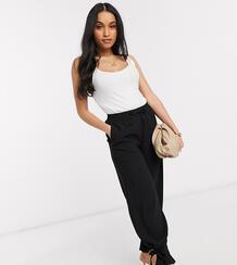 Черные строгие брюки с завязкой на нижней кромке -Черный Vero Moda 9783015