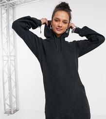 Платье с капюшоном и эффектом кислотной стирки -Серый Rokoko 10767755