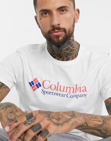 Белая базовая футболка с логотипом CSC-Белый Columbia 10361899