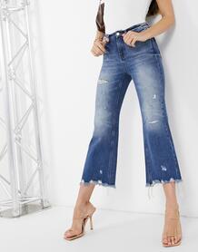 Синие джинсы с широкими штанинами из денима eileen distressed-Синий Miss Sixty 10980650
