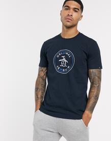 Темно-синяя футболка с логотипом -Темно-синий Original Penguin 9701175