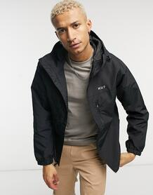 Черная куртка-ветровка на молнии Essentials-Черный цвет Huf 10446335