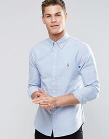 Узкая оксфордская рубашка синего цвета -Голубой Polo Ralph Lauren 6351284