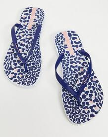 Темно-синие шлепанцы с леопардовым принтом -Темно-синий Ipanema 10790571