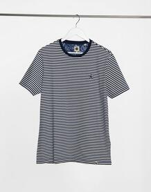 Темно-синяя футболка в полоску Summerbee-Темно-синий Pretty Green 10567243