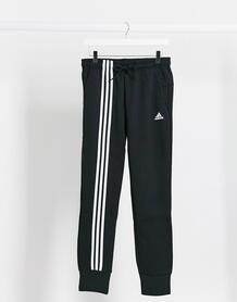 Черные джоггеры с 3 полосками adidas training-Черный 10286176