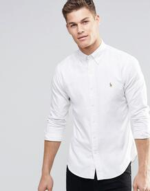 Белая оксфордская рубашка слим -Белый Polo Ralph Lauren 6351338