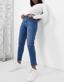 Умеренно-синие джинсы из органического хлопка -Голубой NA-KD 11098291