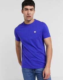 Синяя футболка с логотипом на груди -Голубой Pretty Green 10118793