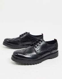 Черные кожаные броги -Черный Base London 10179993
