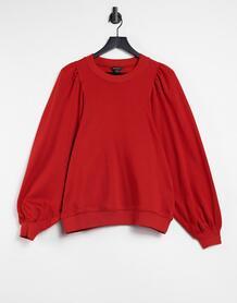Красный свитшот из органического хлопка с объемными рукавами Maricia Monki 11253867