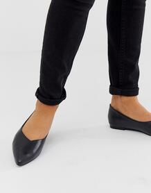 Черные балетки с высокой союзкой -Черный Park Lane 8501745