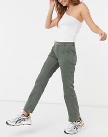 Расклешенные брюки цвета хаки в утилитарном стиле с заниженной талией -Зеленый цвет ASOS DESIGN 11306078