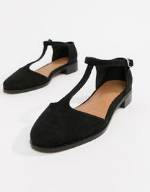Туфли на плоской подошве Mira-Черный ASOS DESIGN 7370763