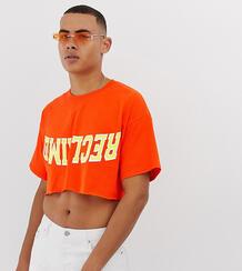 Укороченная университетская футболка -Оранжевый Reclaimed Vintage 8614141