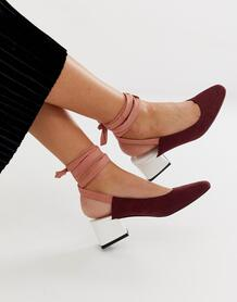 Туфли на среднем каблуке с завязкой на щиколотке Steps-Мульти ASOS DESIGN 7886741