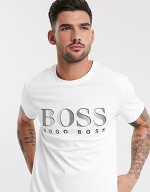 Белая футболка с логотипом BOSS-Белый BOSS Bodywear 9380946