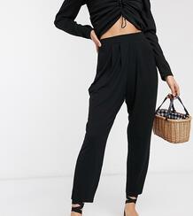 Трикотажные брюки ASOS DESIGN Petite-Черный цвет Asos Petite 9598979