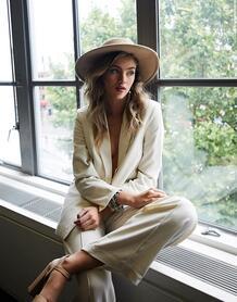 Белые широкие брюки-Белый VILA 10330461