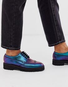 Кожаные туфли на массивной подошве с квадратным носом -Мульти ASOS DESIGN 8813017