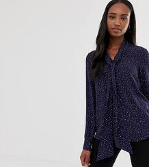 Блузка с принтом звезд и бантом -Темно-синий Glamorous Tall 8078115