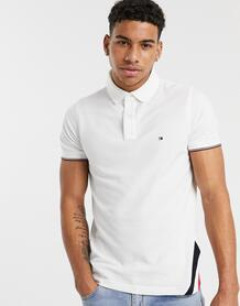 Белая футболка-поло узкого кроя -Белый Tommy Hilfiger 9390649