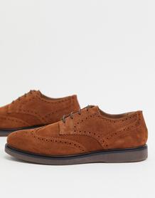 Светло-коричневые замшевые броги -Светло-коричневый H By Hudson 10167822