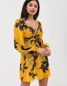 Платье с принтом лилий Day-Желтый Talulah 7934158